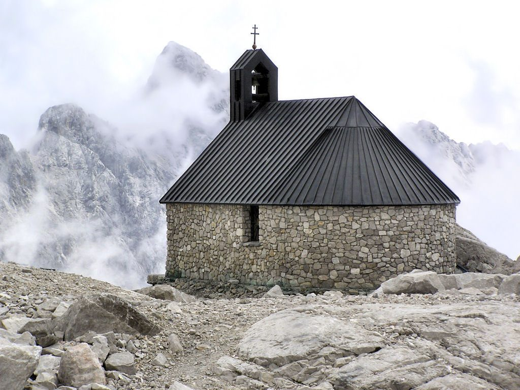 Highest chapel in Germany located in The Zugspitze, Germany's highest mountain