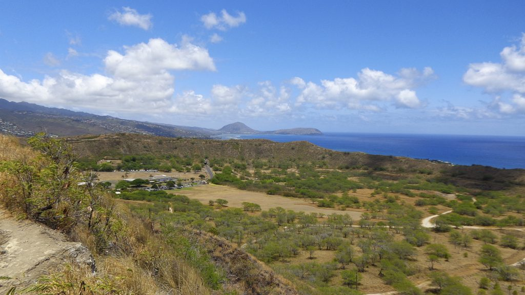 View from Diamond Head State Monument, OhauOahu