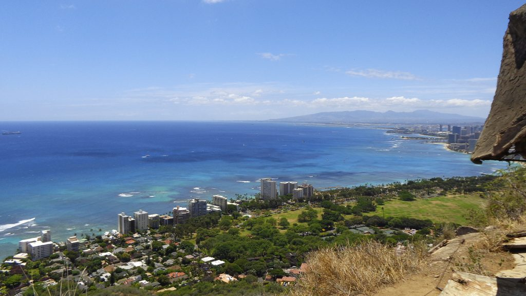 View from Diamond Head State Monument, Oahu