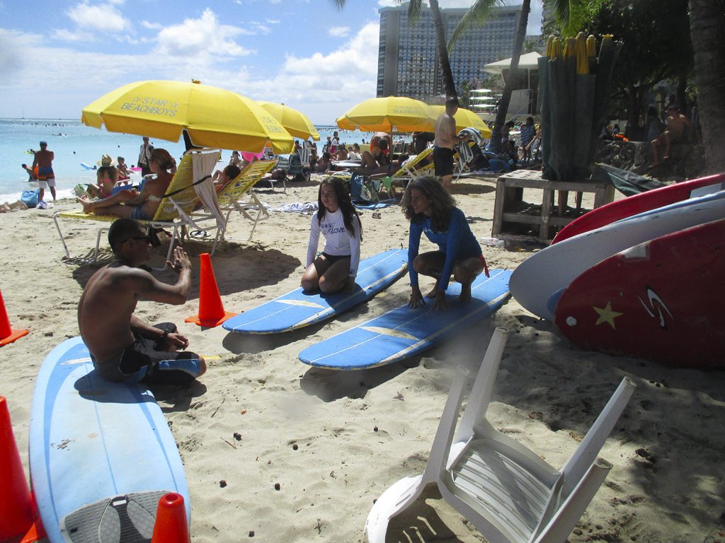 Surfing Lessons at Waikiki Beach, Oahu